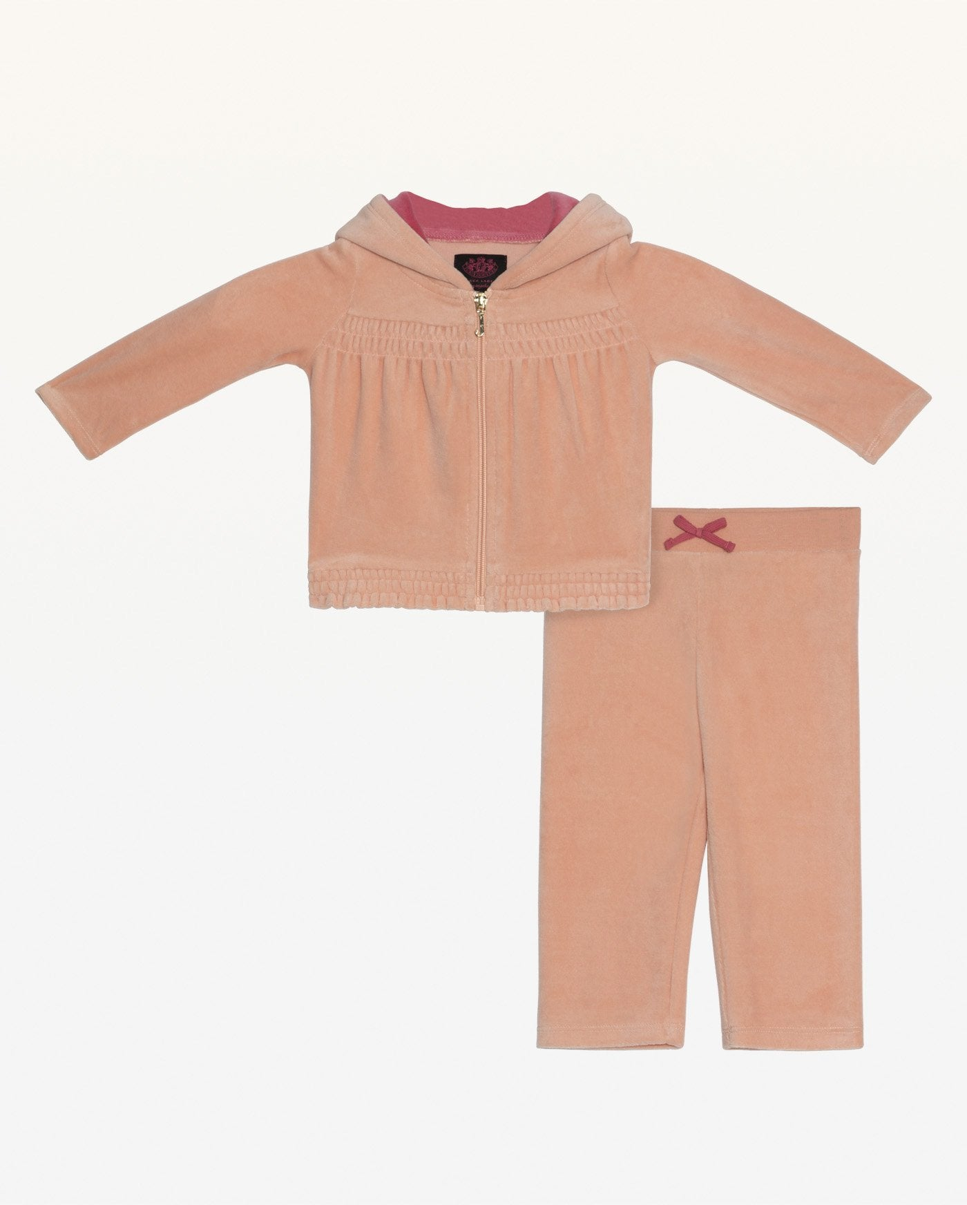 Juicy Bow Velour Track Set for Baby