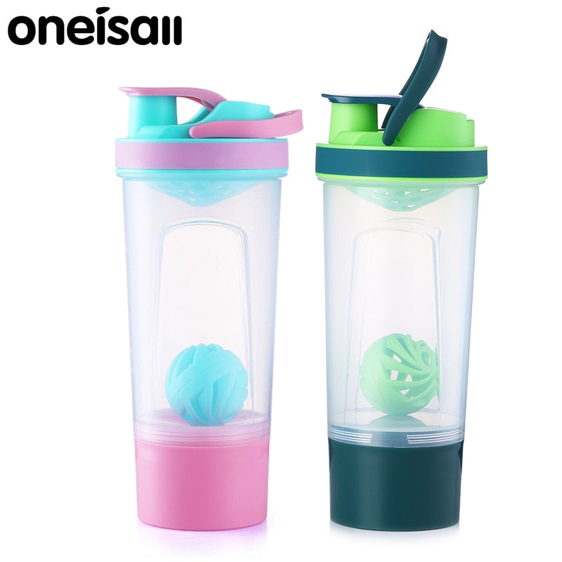 720ml Protein Shaker Plastic Portable Water Bottle Outdoor Gym Sports Fitness Training Drink Powder Milk Mixer My Water Bottle