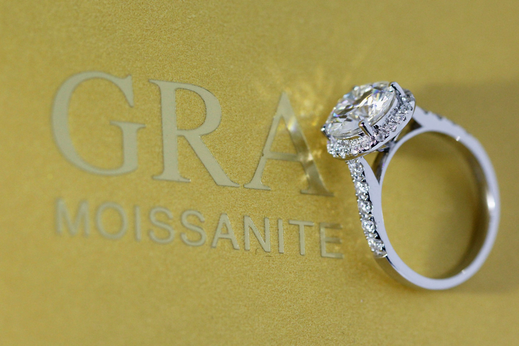 GRA certified Moissanite