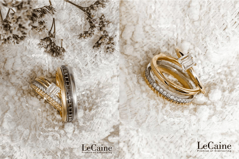 Unique Wedding Rings with Interchangeable Centre