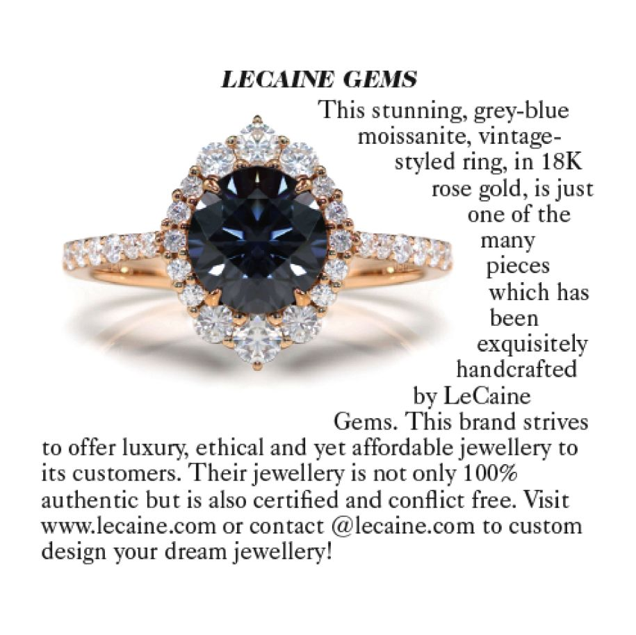 Vogue Magazine UK 2020 Grey Moissanite Jewellery Designer Profile