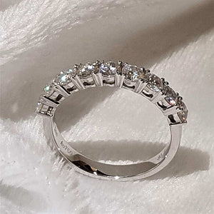 18K White Gold Wedding Rings - LeCaine Gems