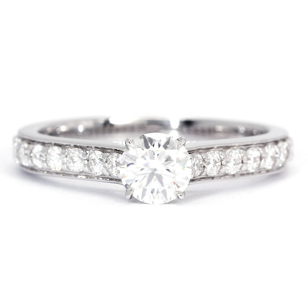 French Belle Moissanite Ring - LeCaine Gems