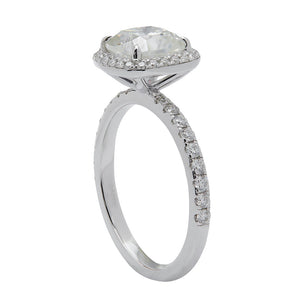 Cushion Cut Halo Moissanite Ring - Lecaine Gems Moissanite