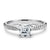 2 Carat Asscher Moissanite Accent Ring 18K White Gold - LeCaine Gems