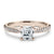 2 Carat Asscher Moissanite Accent Ring 18K Rose Gold - Lecaine Gems Moissanite