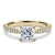 2 Carat Princess Moissanite Accent Ring 18K Yellow Gold - LeCaine Gems