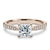 2 Carat Princess Moissanite Accent Ring 18K Rose Gold - LeCaine Gems
