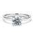 2 Carat Solitaire 18K White Gold Round Band - LeCaine Gems