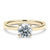 2 Carat Solitaire 18K Yellow Gold Round Band - LeCaine Gems