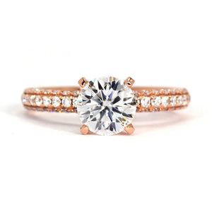 Anne Classic 4 Prong Crown Bridge Moissanite Ring - LeCaine Gems