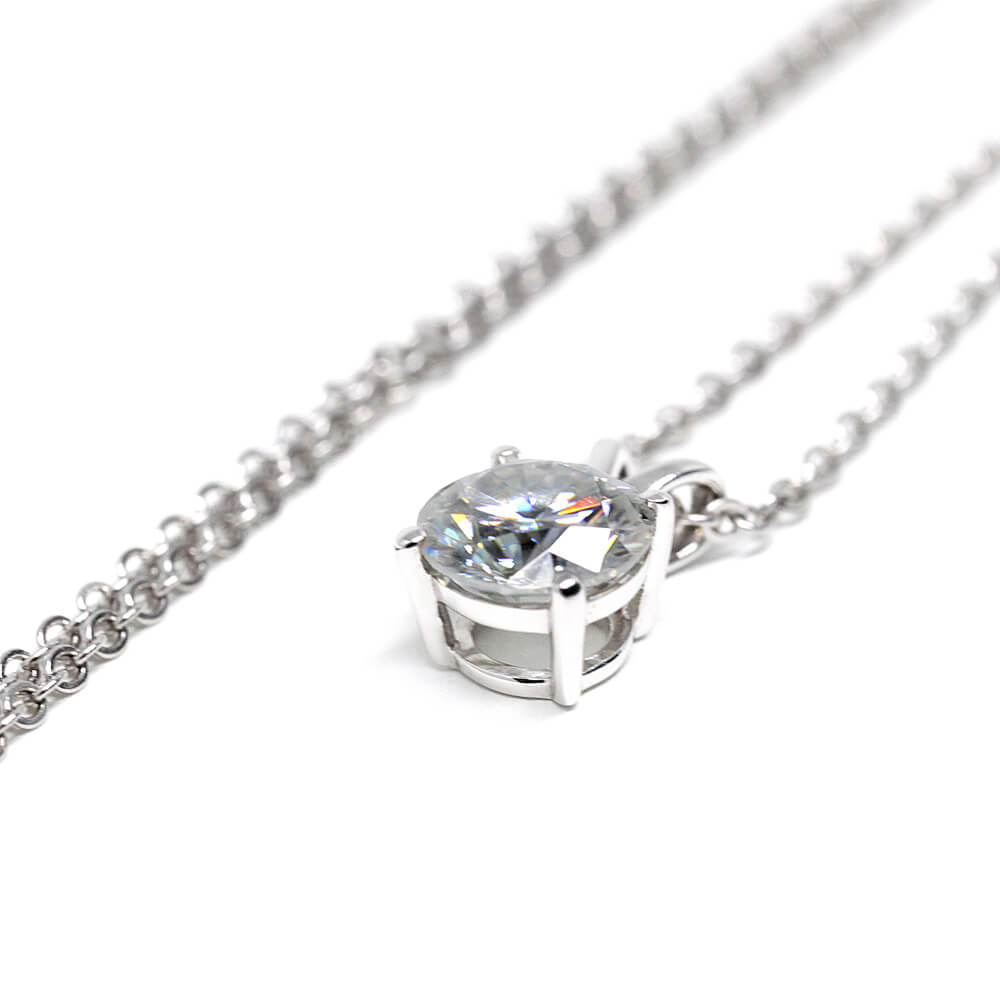 Moissanite Pendant Necklace