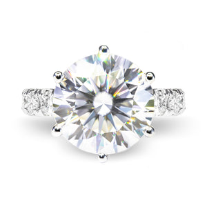 FAITH Full Eternity Moissanite Ring - Lecaine Gems Moissanite