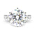 5 Carat Moissanite Solitaire Ring - LeCaine Gems
