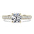 Ready Made | 1 Carat LeCaine Ring Crushed Moissanite Diamonds Crown Setting 18K Yellow Gold - LeCaine Gems