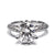 2 Carat Moissanite Knife-Edge Pave Engagement Ring - LeCaine Gems