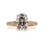 Oval Moissanite Ring with Hidden Halo in 18K Rose Gold Ring - LeCaine Gems