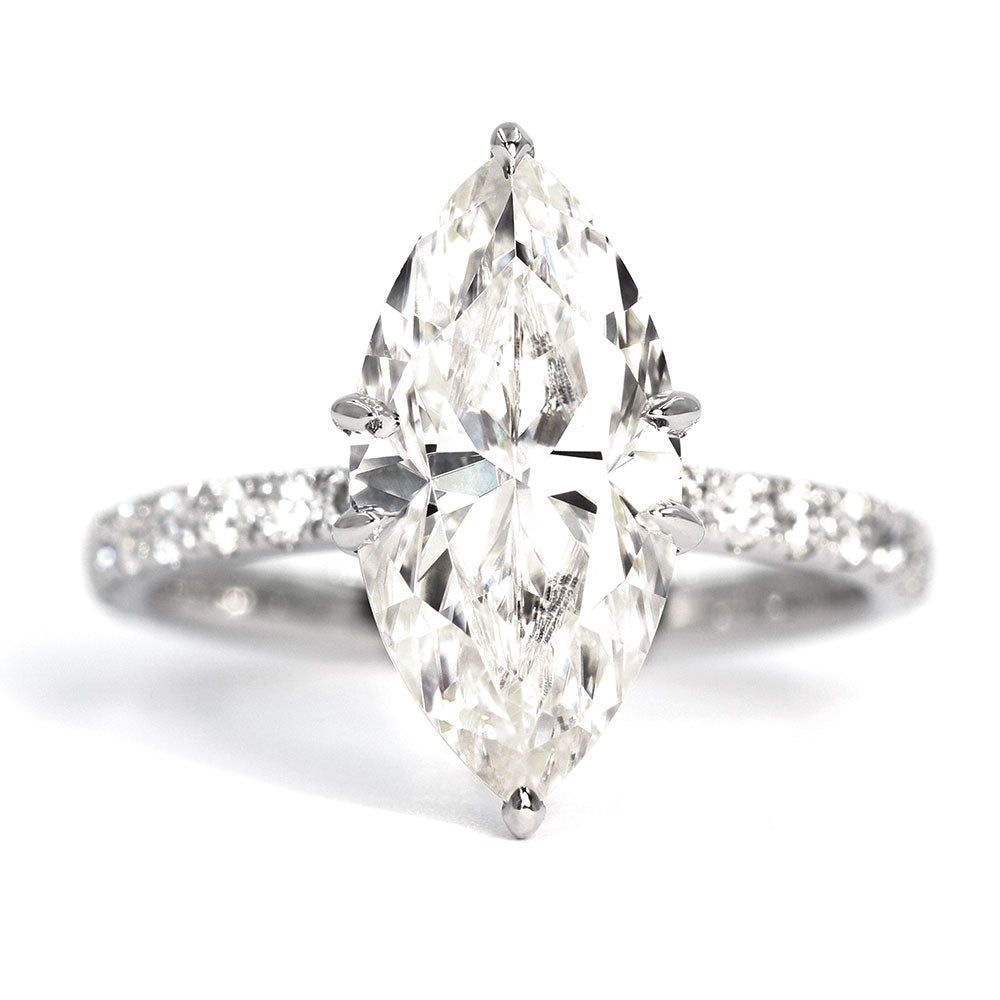 Ready Made | Maisie 2.5 carat Marquise Moissanite Ring - LeCaine Gems