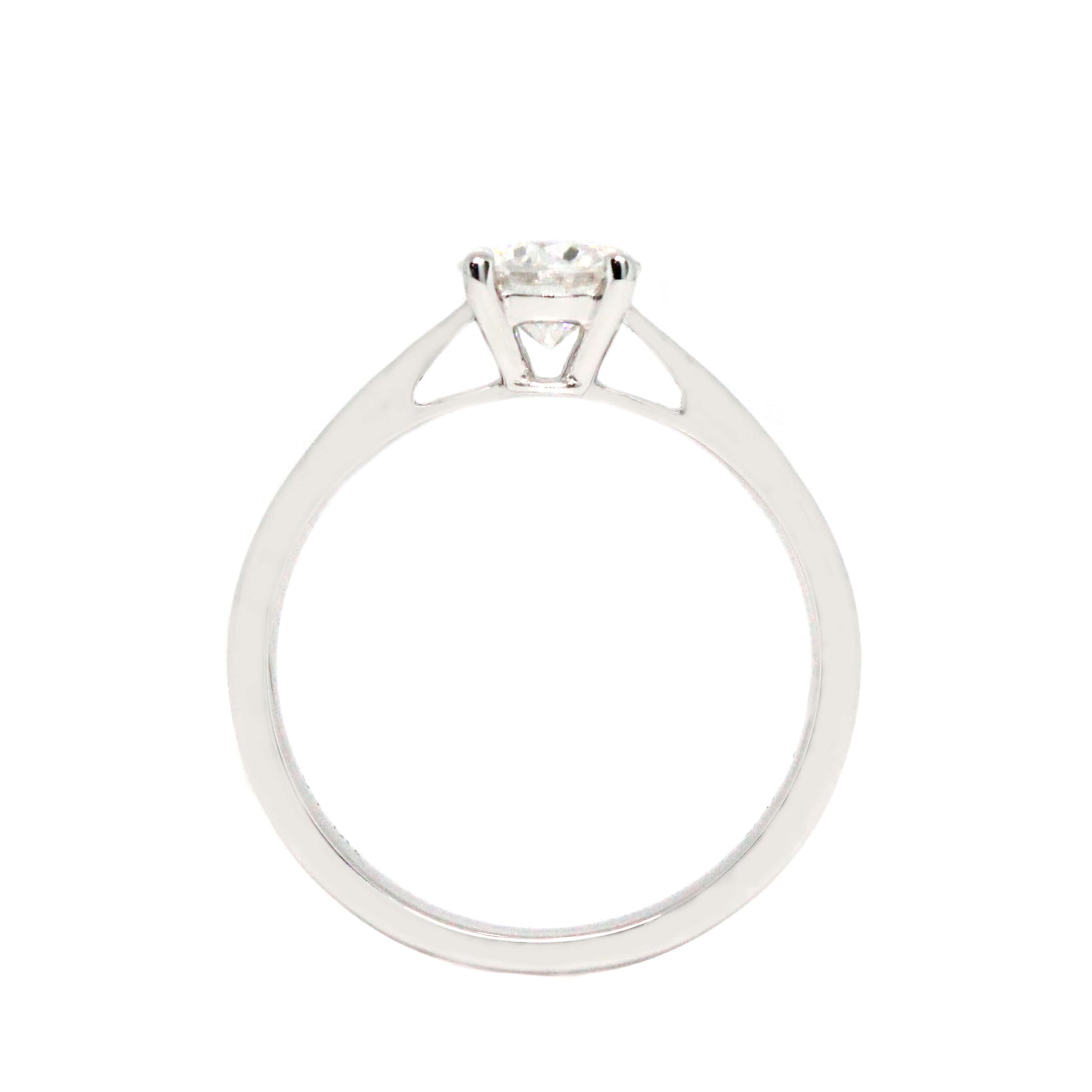 Alicia 0.5 Carat Moissanite 4 Prongs Cathedral Setting