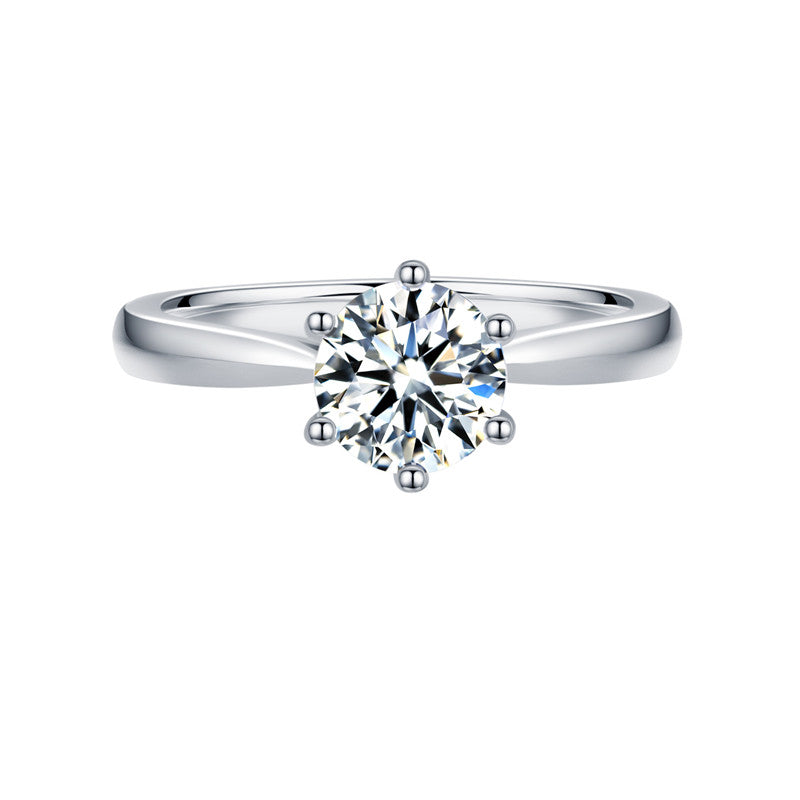 2 Carat Classic Solitaire 6 Prong 18K White Gold - LeCaine Gems