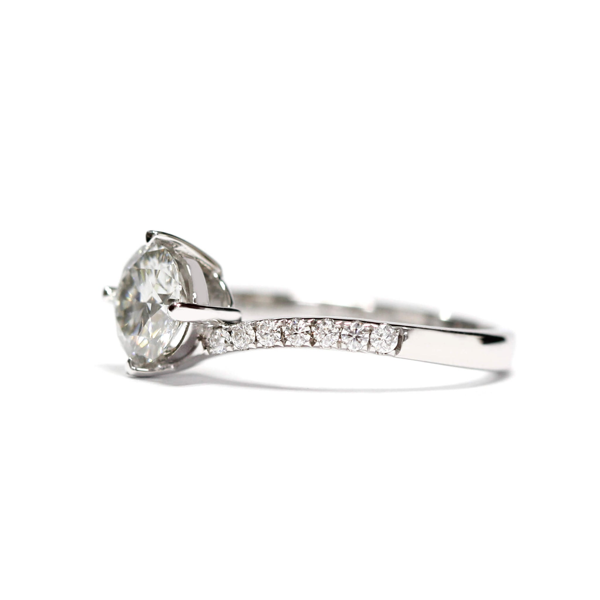 1 Carat Moissanite Twist Band with Accent Stones