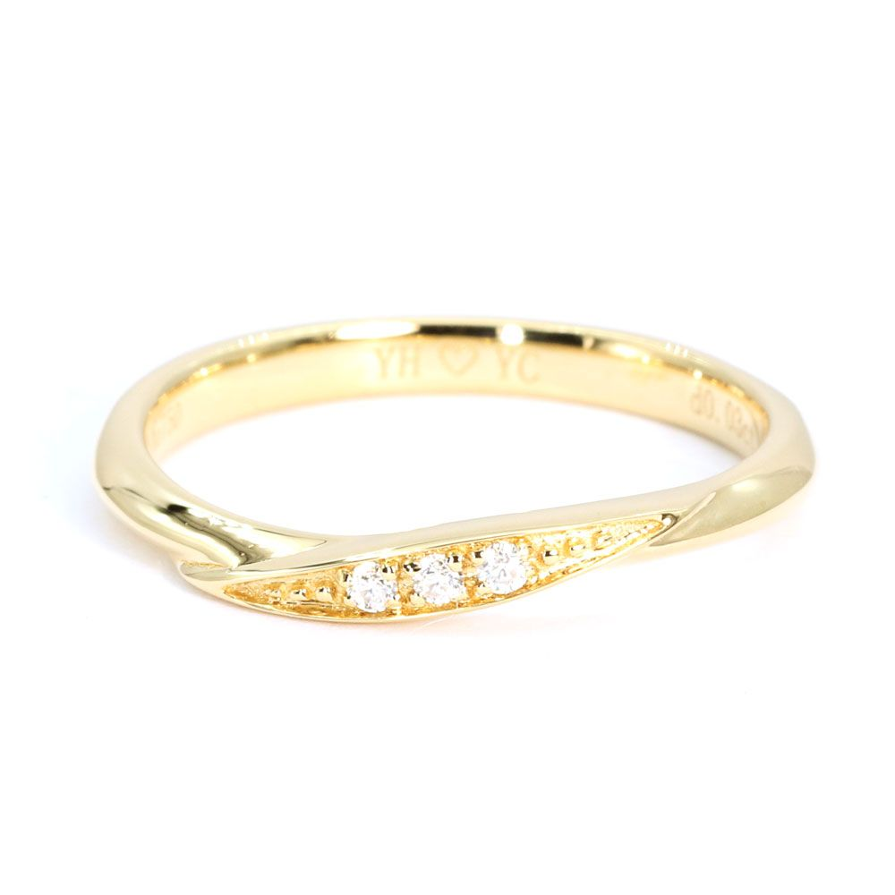 Yumiko Wedding Bands in Yellow Gold