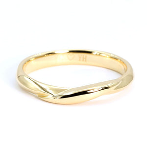 Yumiko Wedding Bands in Yellow Gold - LeCaine Gems