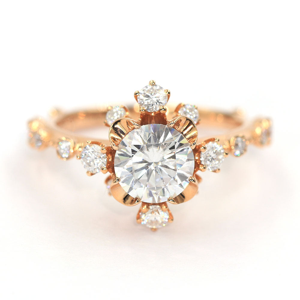 Misaki 1 Carat Moissanite 18K Rose Gold - LeCaine Gems