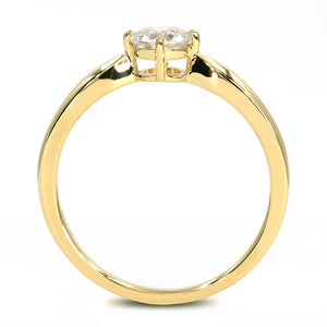 Jamie 0.5 Carat Classic Solitaire 18K Yellow Gold Engagement Ring - Lecaine Gems Moissanite