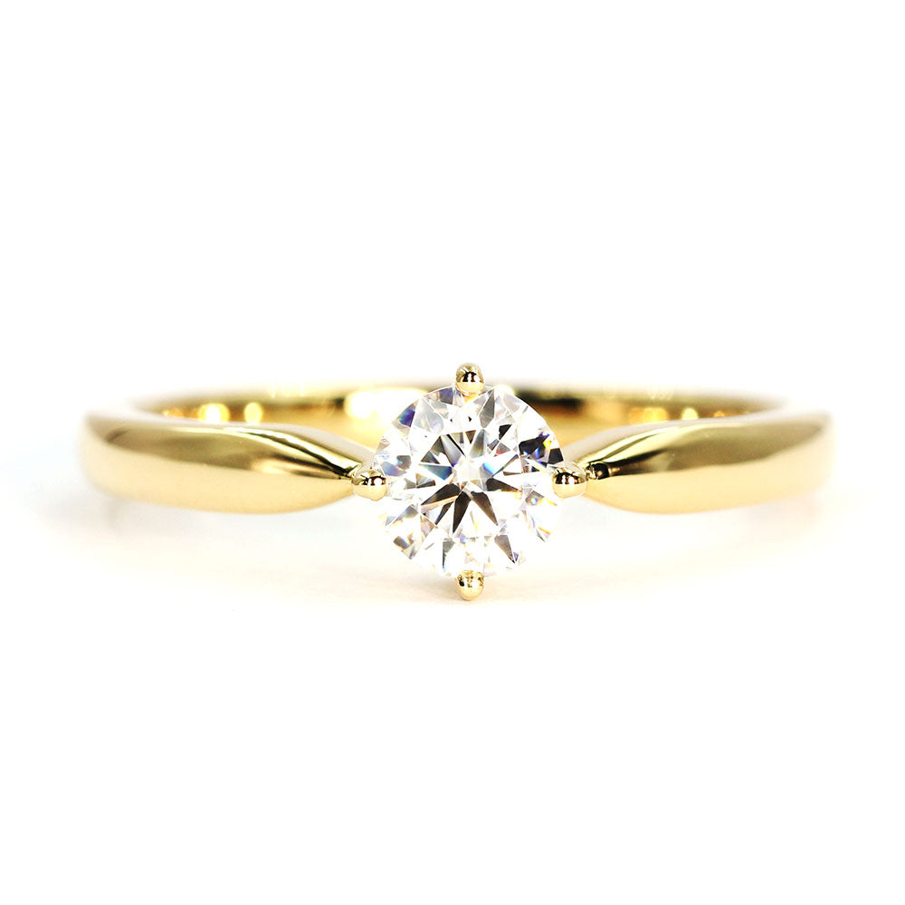 Jamie 0.5 Carat Classic Solitaire 18K Yellow Gold Engagement Ring - LeCaine Gems