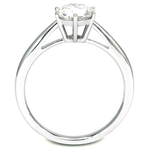 Tonya Ring 1 Carat Solitaire 6 Prongs Cathedral - LeCaine Gems
