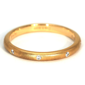 Jane Wedding Bands in 18K Solid Gold - LeCaine Gems