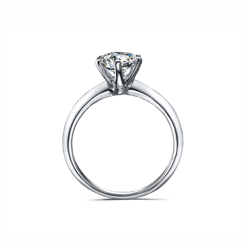 3 Carat Moissanite Solitaire 6 Prong 18K Rose Gold