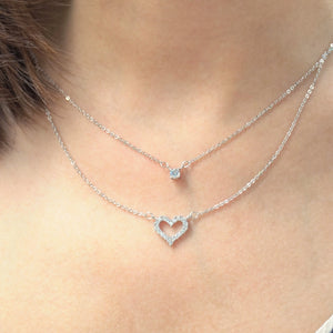 Heart Strings Layered Necklace