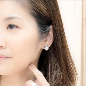 Pearl Orbit Stud Earrings