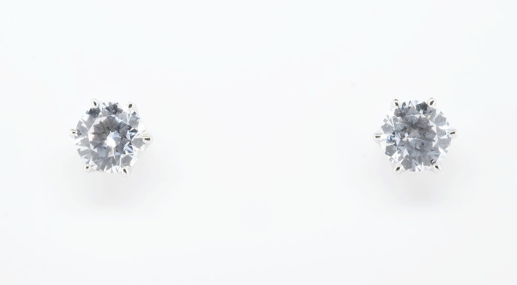 Goddess Astraea Allure Solitaire Earrings