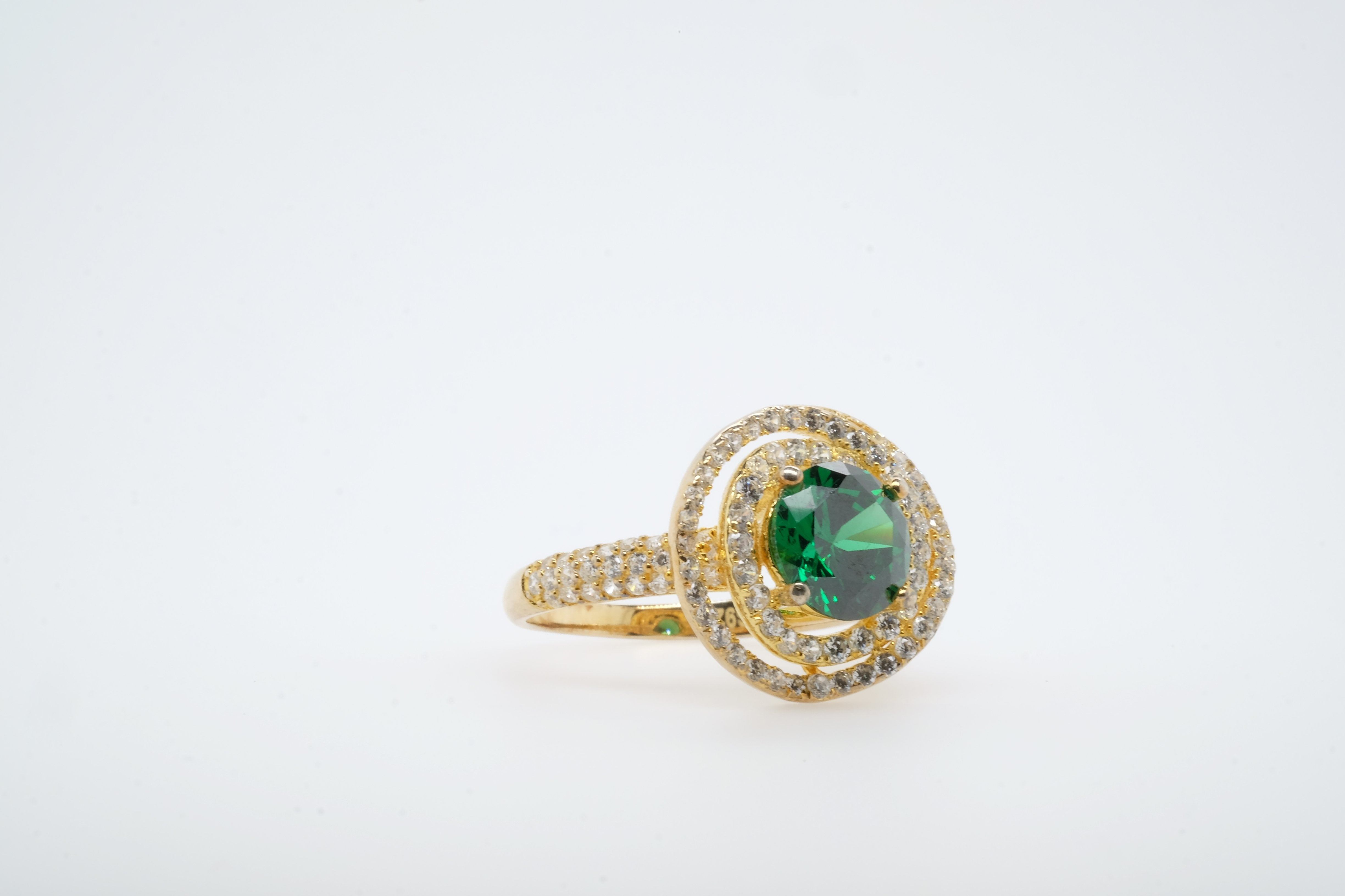 Green Coil Gold Ring