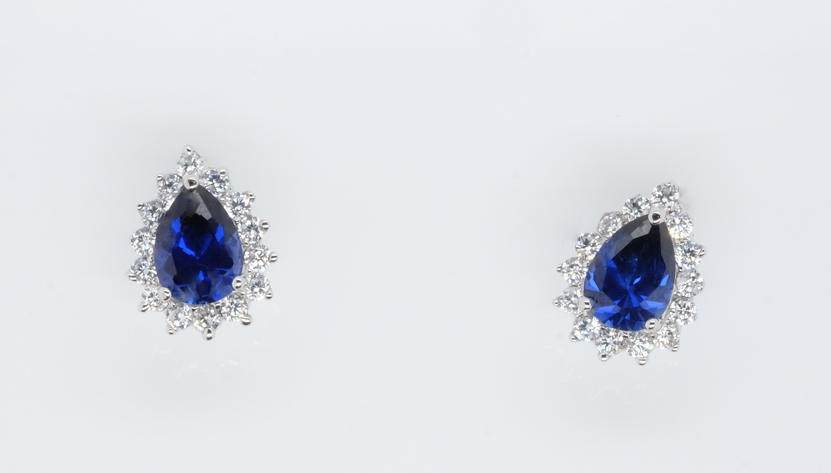 Goddess Astraea Mesmerise Blue Teardrop Earrings