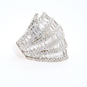 Mosaic Waves Ring