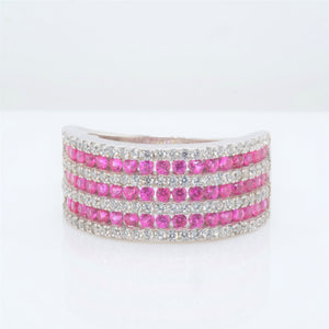 Eternity Pink 7 Band Ring
