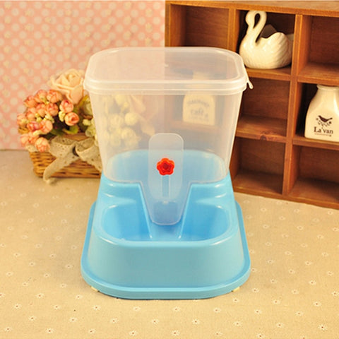 Huiyi Home Large Adjustable Automatic Pet Feeder Drinking Fountains Dog Bowl Water Dispenser For Dogs Cats Food Dish ENI013