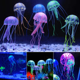 Aquarium Ornaments Fish Tank Decoration Landscaping Ornament Fluorescent Simulation Jellyfish Ornament Pet Decor