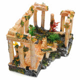 Artificial Aquarium Decorations Resin Ancient Roman Ruins Ornament for Aquarium Fish Tank Decoration Terrarium 23*16*12.5cm