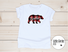 Load image into Gallery viewer, Kids Plaid Little Bear Short Sleeve T-Shirt