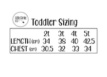 Load image into Gallery viewer, Toddler Sizing Chart