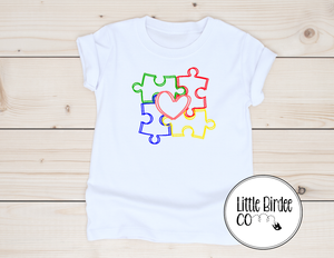 Kids Autism Awareness Short Sleeve T-Shirt