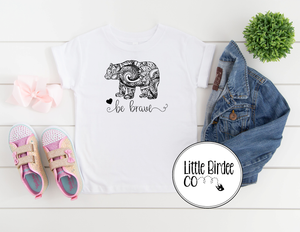"Kids ""Bear Be Brave"" Short Sleeve T-Shirt"