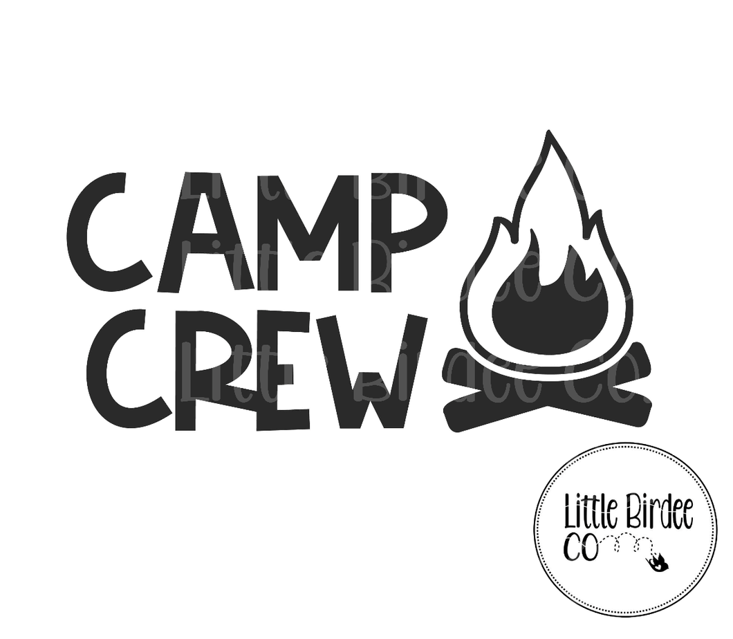 Camp Crew Vinyl Sticker