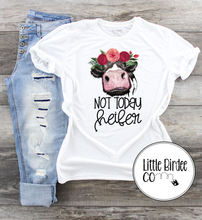 "Load image into Gallery viewer, Women's ""Not today heifer"" Short Sleeve T-Shirt"