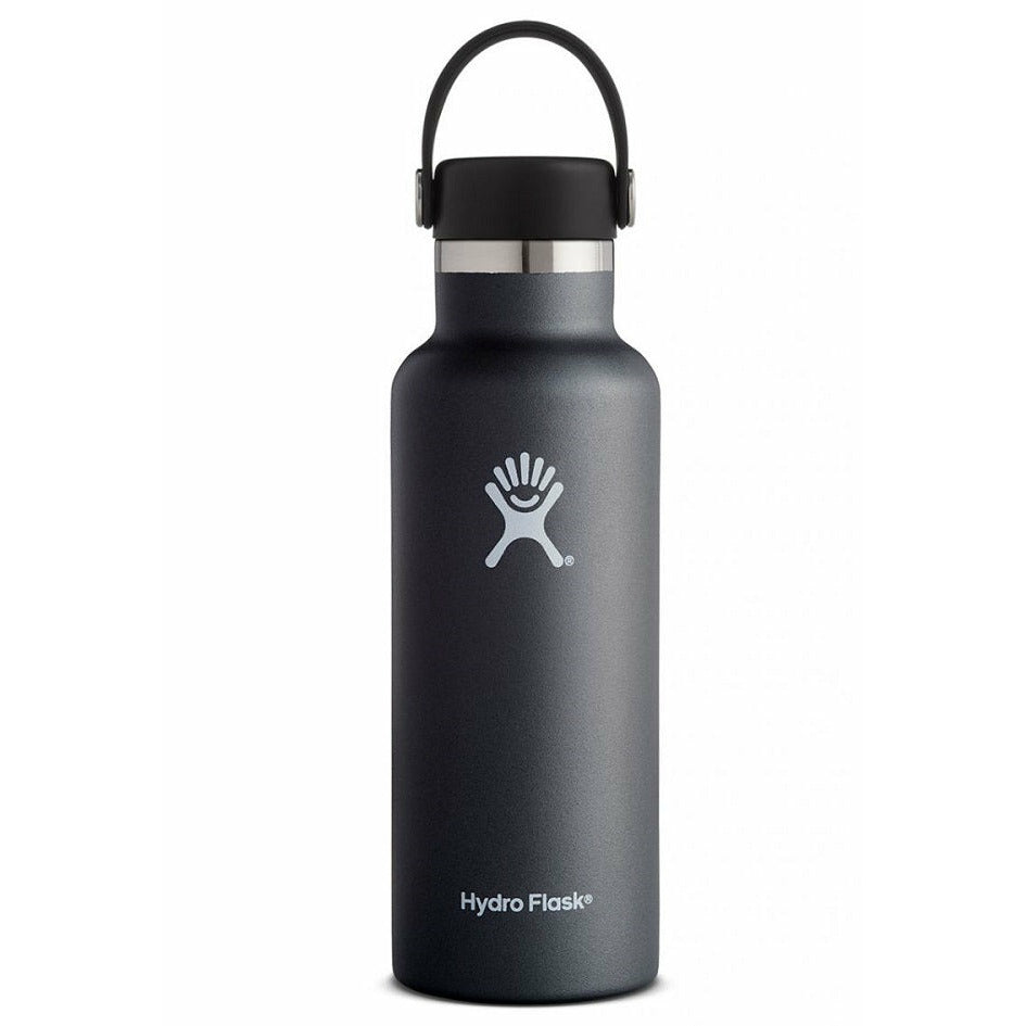 Hydro Flask 18oz Standard Mouth With Flex Cap - BLACK